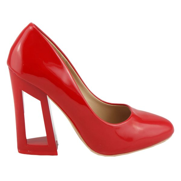 High Heels C-17 rot Trichter/ Blockabsatz